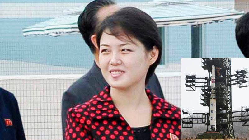 Illustration for article titled Kim Jong-Un's Wife Escapes North Korea In Long-Range Missile