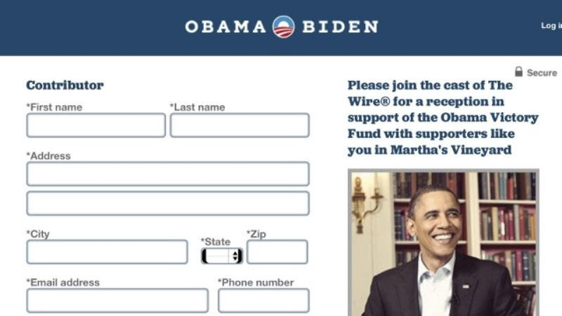 Illustration for article titled The Obama campaign cordially invites you to a Wire-themed fundraiser in Martha's Vineyard