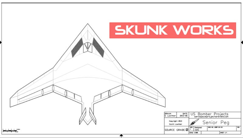 Illustration for article titled Lockheed's Senior Peg: The Forgotten Stealth Bomber