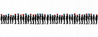 Illustration for article titled ¿Cuántas personas puedes salvar en esta fila de condenados a muerte con sombreros de colores?