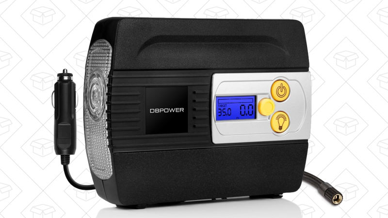 DBPOWER 12V Tire Inflator | $22 | Amazon | Use code 975WIE8H