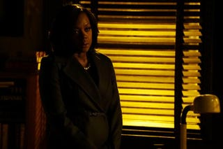 Annalise Keating (played by Viola Davis) takes on a new client, a transgender professor accused of killing her husband.ABC/Richard Cartwright