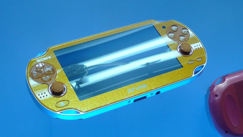 Illustration for article titled It's a Gold PlayStation Vita! (And a Red One, a Blue One, A Green One...)