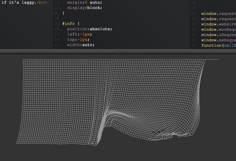 Illustration for article titled Una simulación de una tela en Javascript que te mantendrá ocupado horas