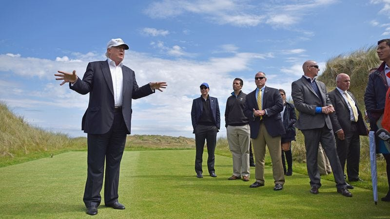 Trump in Scotland. (Photo: Getty Images, Jeff J. Mitchell)