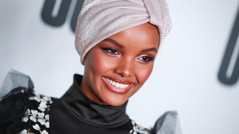 Halima Aden attends House Of Uoma presents the launch of Uoma Beauty on April 25, 2019 in Los Angeles, California.