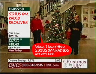 Illustration for article titled Sirius XM Gets Bailed Out By Owners of QVC, Avoids Bankruptcy Scare