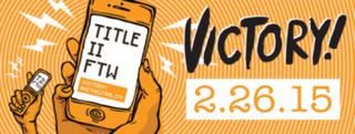 The advocacy group Free Press celebrates the FCC vote Thursday on net neutrality.