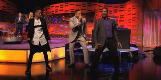 Jaden Smith, Will Smith and Alfonso Ribiero on The Graham Norton Show (BBC)