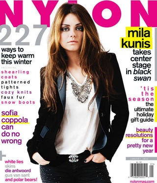 Illustration for article titled Mila Kunis, The Other Black Swan Star, Covers Nylon