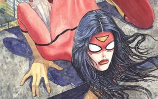 Illustration for article titled That Infamous Spider-Woman Cover Rendered In 3D Is A Flesh Nightmare