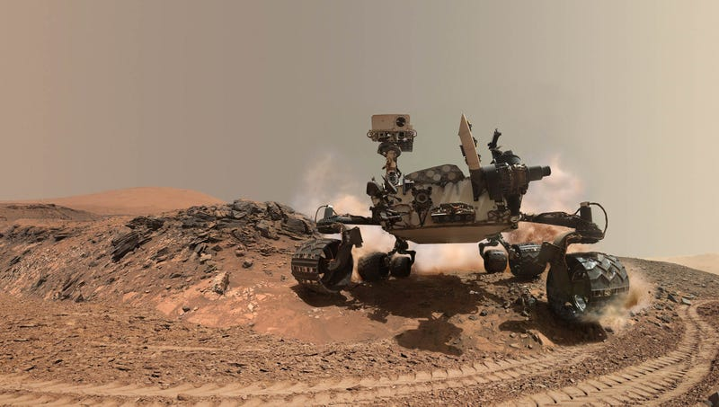 Curiosity Rover Frantically Driving Around Mars To Make It ...