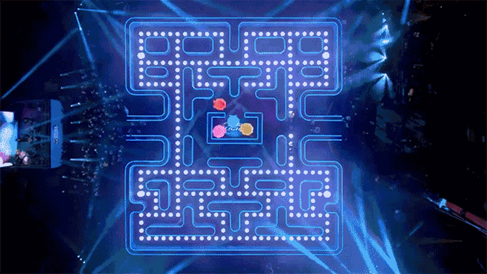 Bud Light Built a Human-Sized Pac-Man Maze For Its Super Bowl Ad