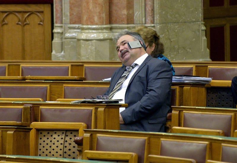 Illustration for article titled Parafenomén államtitkár lépett fel a Parlamentben, próbáltuk utánozni