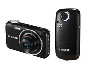 Illustration for article titled Samsung HMX-E10: A 1080p Pocket Cam With 270-Degree Swivel Lens, and ST80 Wi-Fi Point-and-Shoot