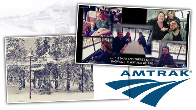 An Amtrak Train Has Been Stuck in Snow in Oregon Since Sunday