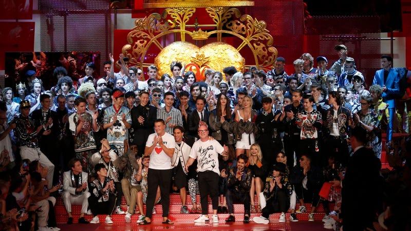 Dolce&Gabbana's men's Spring-Summer 2018 collection, Milan. Image via the AP.