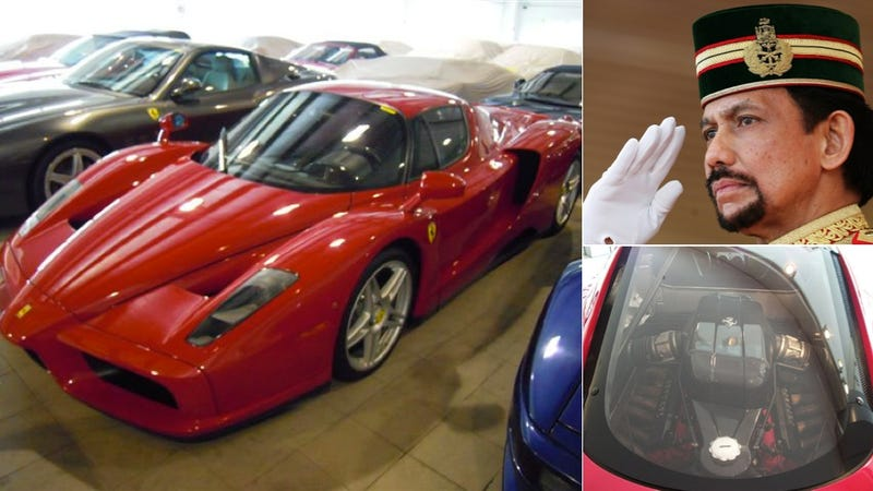 Illustration for article titled Is The Sultan Of Brunei's Untouched Ferrari Enzo For Sale In California?
