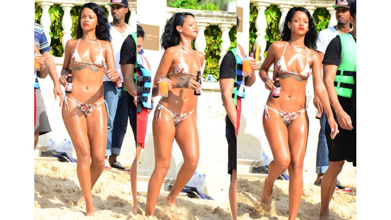 Illustration for article titled Rihanna Is Drinking Beers and Riding Jet Skis in Barbados Right Now