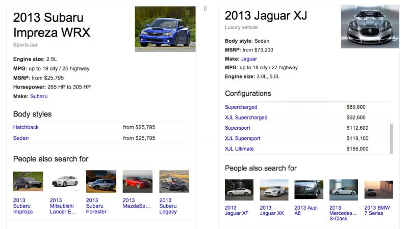 Illustration for article titled Google Just Made Searching For New Car Info A Lot Easier