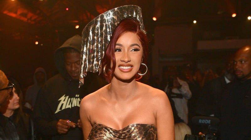 Cardi B attends Huncho reality 'The Album release Experience' on October 12, 2018 in Los Angeles, California.