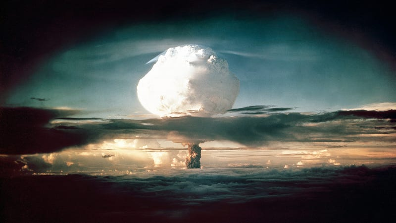 The mushroom cloud from the Ivy Mike nuclear test on November 1, 1952.