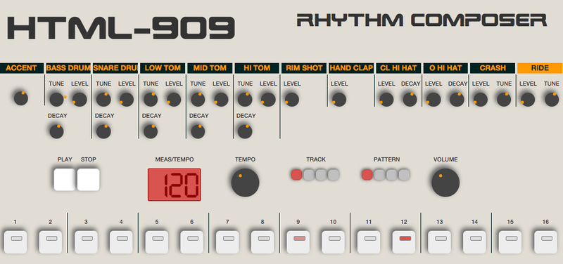 Una caja de ritmos en HTML5 es todo lo que necesitas para no hacer nada más el resto del día