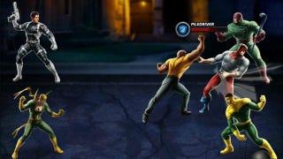Illustration for article titled Marvel: Avengers Alliance Lets You Assemble Your Own Oddball Avengers Team on Facebook