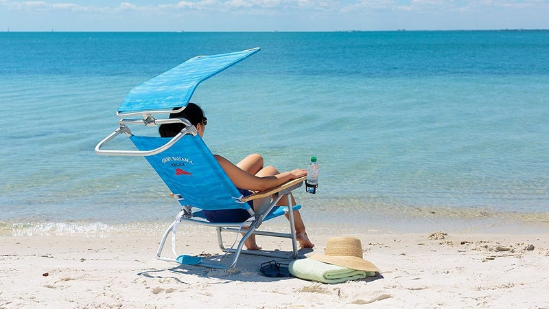 Tommy Bahama The Big Kahuna Beach Chair | $66 | AmazonTommy Bahama Lay Flat Beach Chair | $40 | Amazon