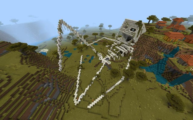 The Latest Minecraft Trend Has Fans Building Creepy, Giant Skeletons