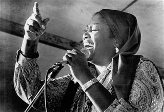 """Illustration for article titled Odetta, """"Queen Of American Folk Music,"""" Dead At 77"""