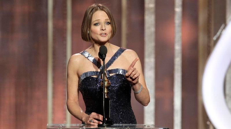 Illustration for article titled Woman Who Admits To Having Watched Golden Globes Thinks Jodie Foster Embarrassed Herself