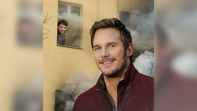 Illustration for article titled Beautiful: Make-A-Wish Sent Chris Pratt To Meet An 8-Year-Old Fan Trapped In A Burning Building