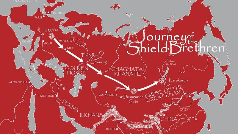Illustration for article titled Read a free Mongoliad prequel and check out an exclusive map of Neal Stephenson's epic!