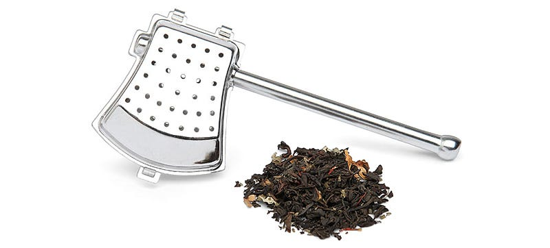 Illustration for article titled An Axe-Shaped Tea Strainer, Because Even Lumberjacks Need a Break