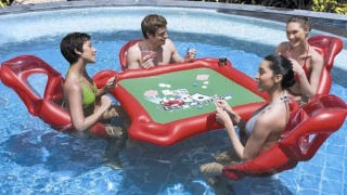 Illustration for article titled Inflatable Pool Poker Table Makes Strip Poker Too Easy