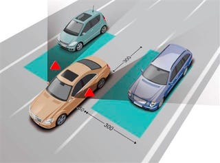 Illustration for article titled Mercedes' BlindSpot Assist, in Depth