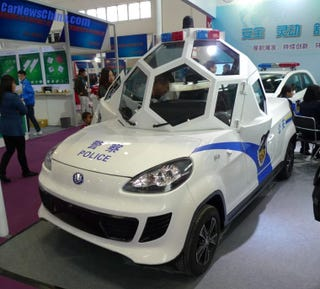 Illustration for article titled China's New Armored Police Car is Too Much Party