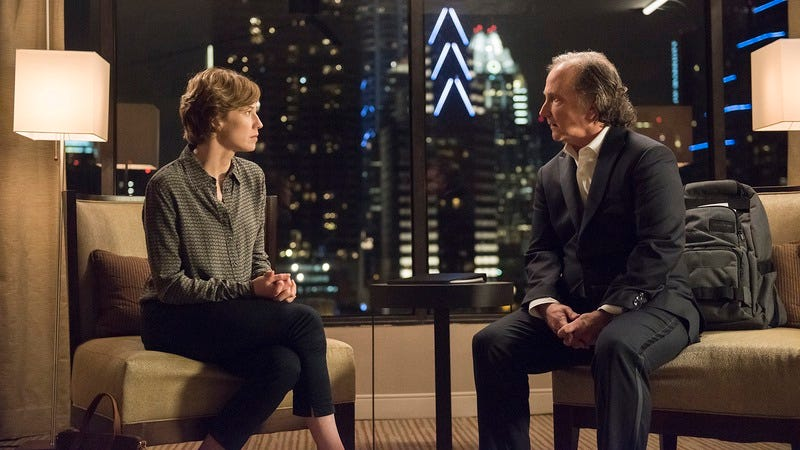 Carrie Coon and Mark Linn-Baker (Photo: Van Redin/HBO)