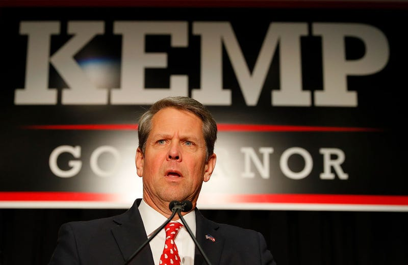 Brian Kemp on election night Nov. 6, 2018, on his way to becoming Georgia's governor