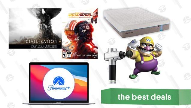 Thursday s Best Deals: M1 MacBook Air, Newegg PC Games Sale, Tempur-Cloud Mattresses, TaoTronics Massage Gun, Free Paramount+ Trial, and More