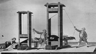 "Illustration for article titled Why the guillotine was the first ""egalitarian"" execution tool"
