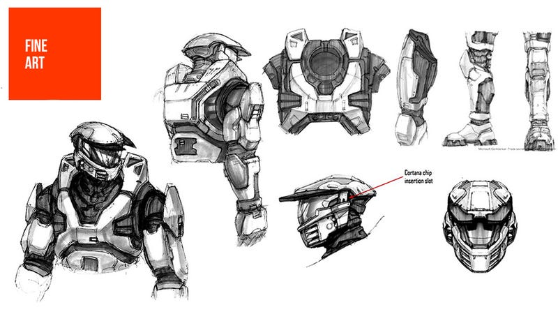 Illustration for article titled This Halo Concept Art is so Old it's Drawn on Paper