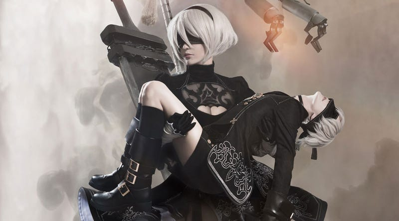 Illustration for article titled Nier: Automata Cosplay Is Not Fucking Around Here