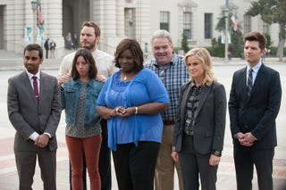 """Illustration for article titled Parks And Recreation's Next Season Will Be """"Very Gently Scifi"""""""