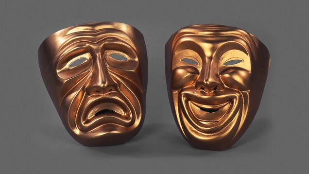 Tragedy Mask Clearly Jealous Of Comedy Mask