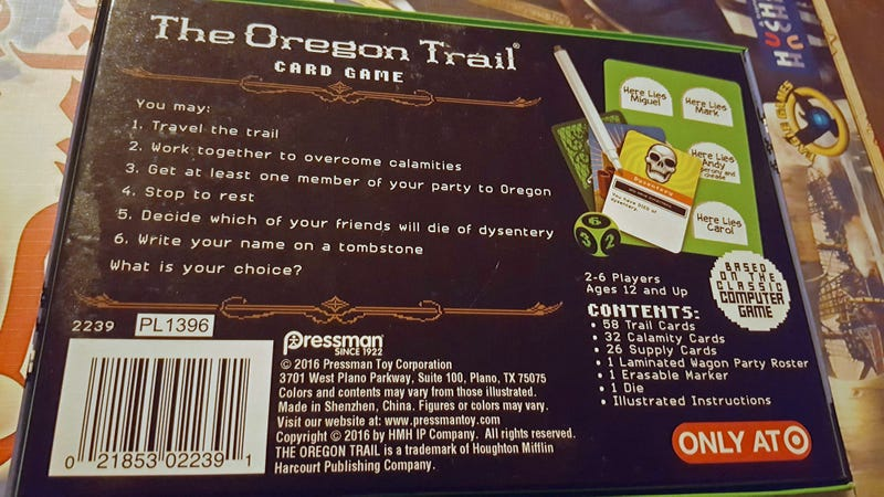 I'm Going to Shoot So Many Buffalo Playing This Oregon Trail Card Game
