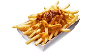 Illustration for article titled In Japan, McDonald's Just Released Disgusting-Looking Cheese Fries