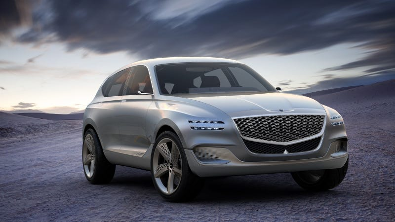 Illustration for article titled The Luxurious Genesis GV80 SUV Concept Runs On Magic Or Some Shit