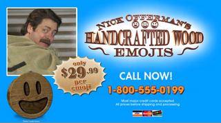 Illustration for article titled Please Enjoy Nick Offerman's Handcrafted Wood Emojis